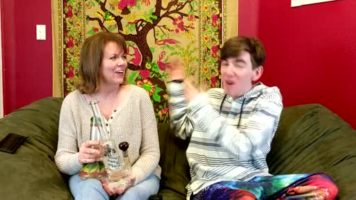 Thumbnail for video titled This guy is smoking weed with his mom